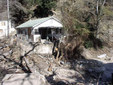 Photo of a house after a natural disaster