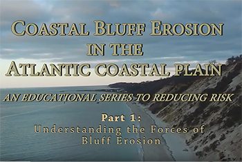 Image of YouTube Video, Coastal Bluff Erosion in the Atlantic Coast Plain.