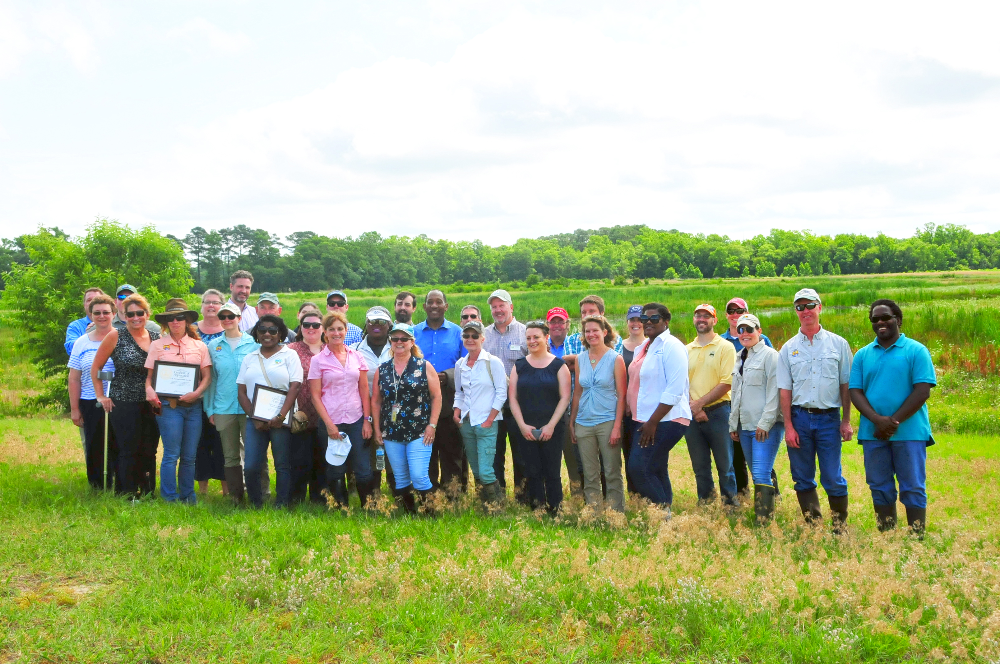 Maryland Natural Resources Conservation Service joined their partners to celebrate their 25th Anniversary for Easements on June 13. State Conservationist Terron Hillsman recognized various partners by presenting them with certificates of appreciation.