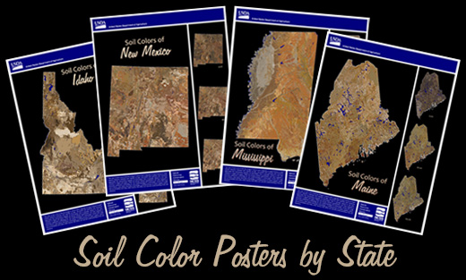 Samples of Soil Color posters.