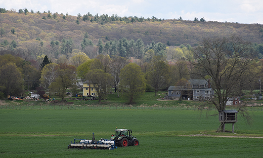 Harvest time on a scenic Connecticut farm.