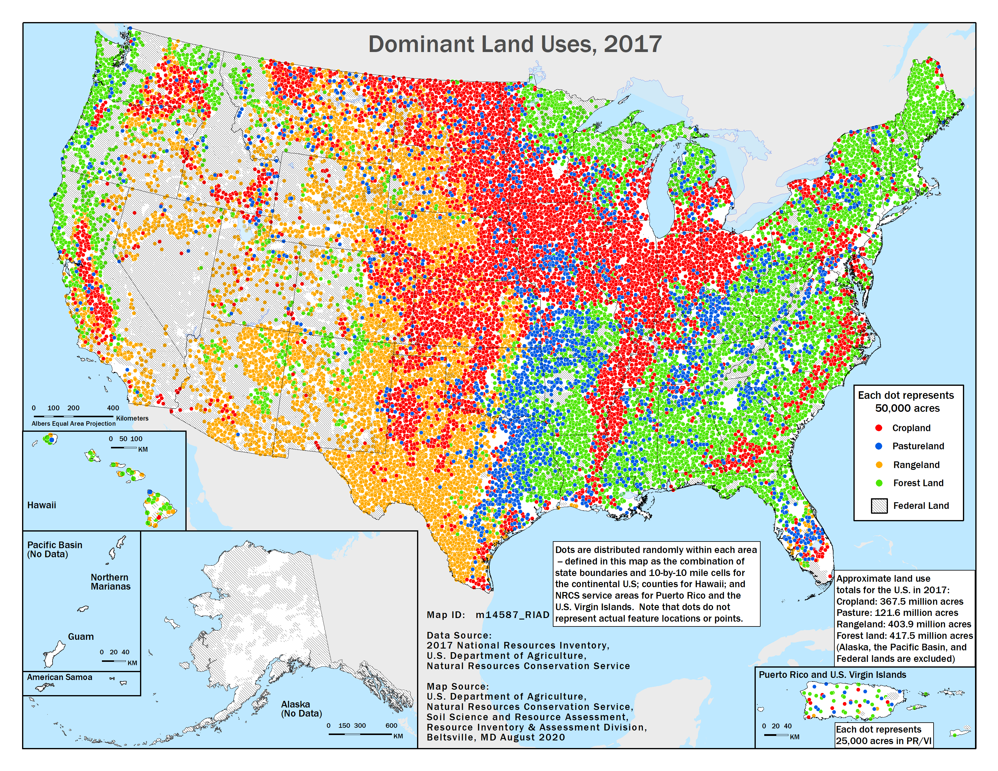 2017 Land Uses map from the 2017 NRI Release