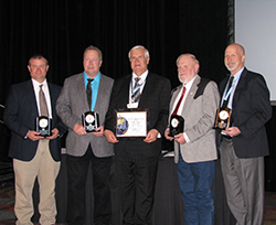 Brent Clark, NRCS District Conservationist;  Ricky Reed, Buffalo Conservation District (BCD) Board Member; Lee McDaniel, President of NACD; Sid Lowrance, BCD Conservation Planner; Mike Sullivan, NRCS