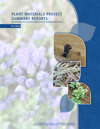 Cover image of 2014 Plant Materials Project Summary Reports to the National Park Service