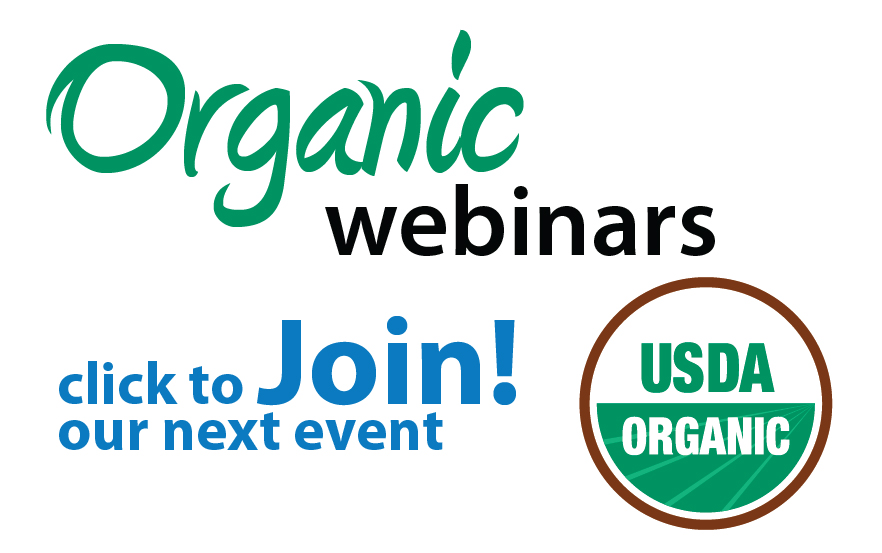 Join our next Organic Webinar