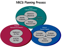 Venn diagram showing the three phases of conservation planning