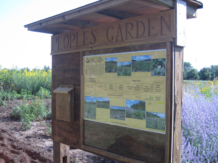 People's Garden sign at the Bismarck Plant Materials Center