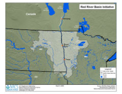 thumbmail showing red river basin map in ND, SD and MN