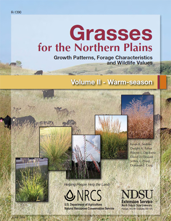 Cover of Grasses for the Northern Plains, Volume II - Warm-season Growth Patterns, Forage Characteristics and Wildlife Values