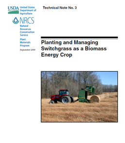 Cover of Planting and Managing Switchgrass as a Biomass Energy Crop