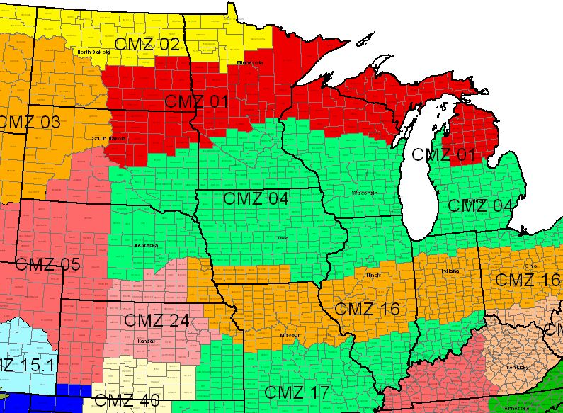 Crop Management Zones - North Central