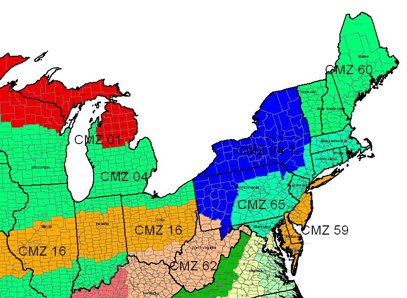 Crop Management Zones - Northeast
