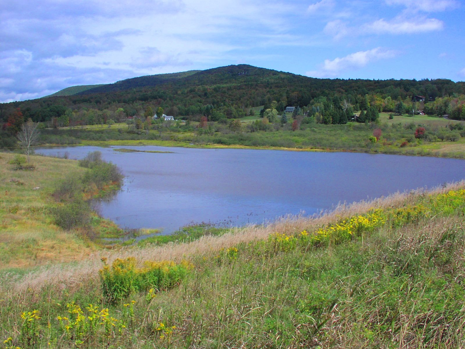 One of many floodwater control dams in New York State