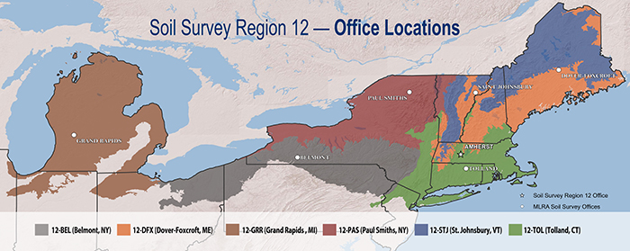 Soil Survey Region 12 Office Location Map